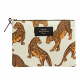 Large Pouch - Leopard White