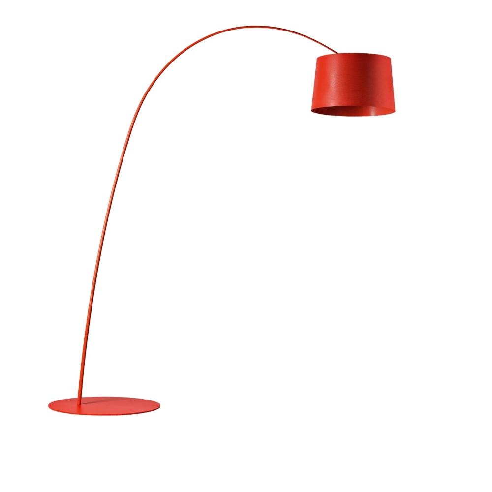 Twiggy - Golvlampa, Djupröd, Utan LED-lampa