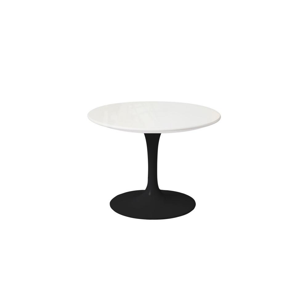 Saarinen Low Round Table For Outdoor, Höjd 36 cm, Ø 51 cm, Svart under