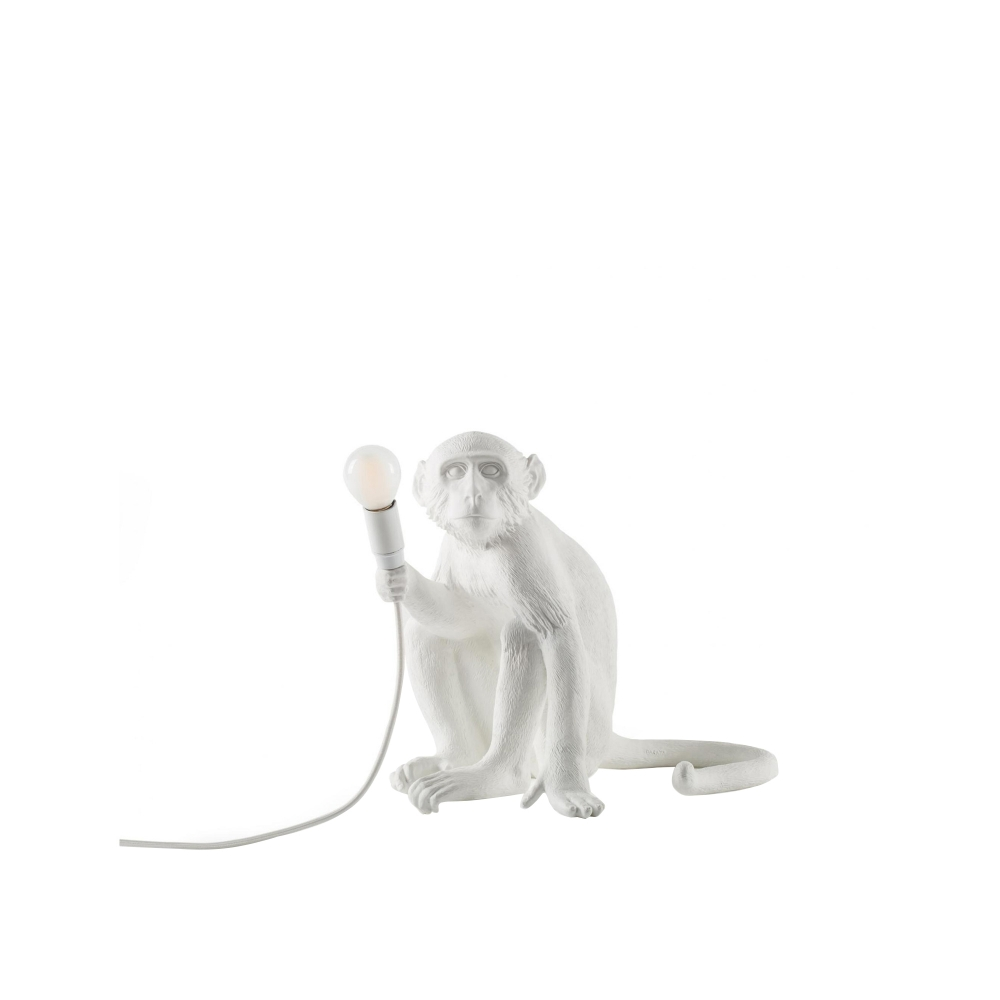 Monkey Lamp Sitting - Vit i gruppen Belysning / Bordslampor hos Nordiska Galleriet 1912 (10140188)