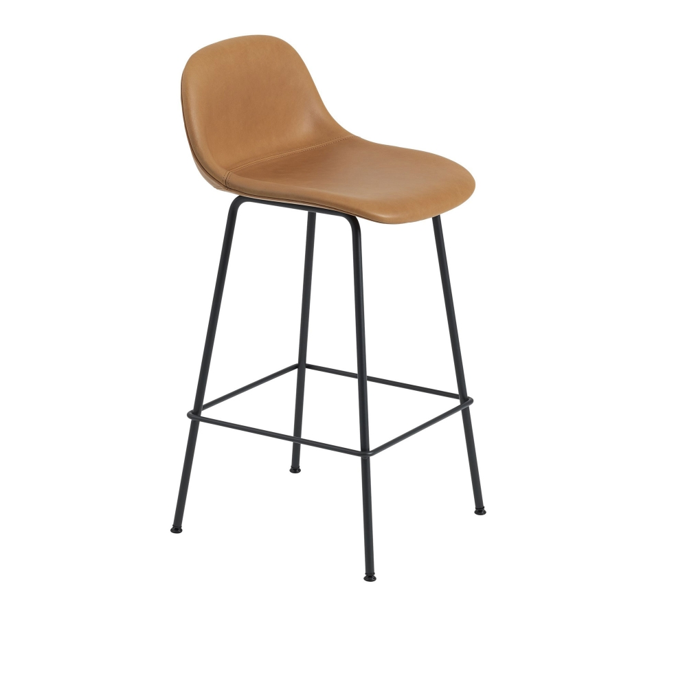 Fiber Bar Stool with Backrest - Tube Base i gruppen Möbler / Stolar / Barstolar & barpallar hos Nordiska Galleriet 1912 (10174538r)