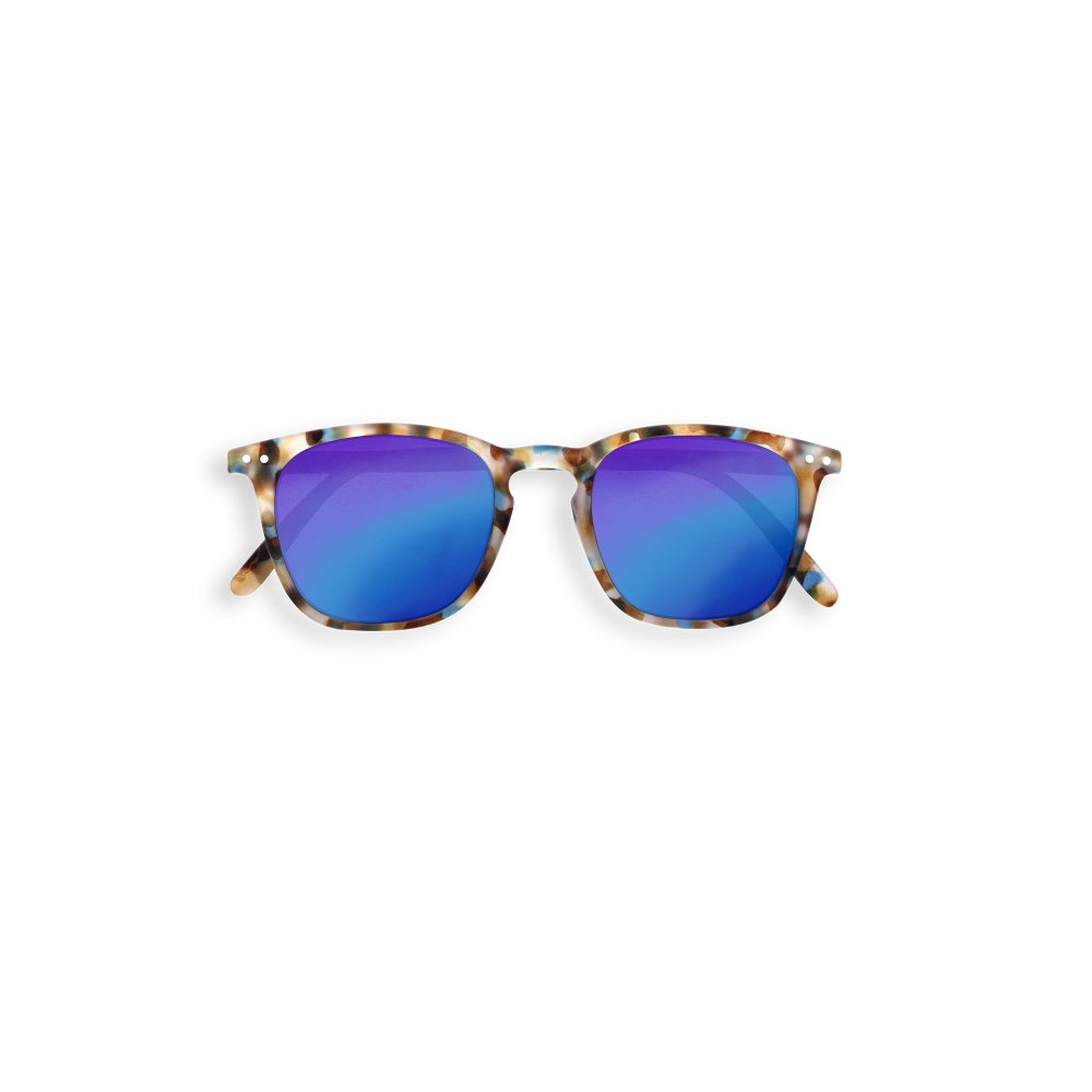 #E Junior Sun - Tortoise Soft Blue, Mirror Lenses i gruppen Details / Glasögon / Barnglasögon hos Nordiska Galleriet 1912 (10179327)