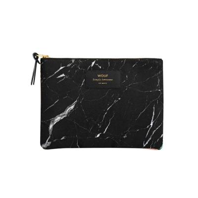 Large Pouch - Black Marble