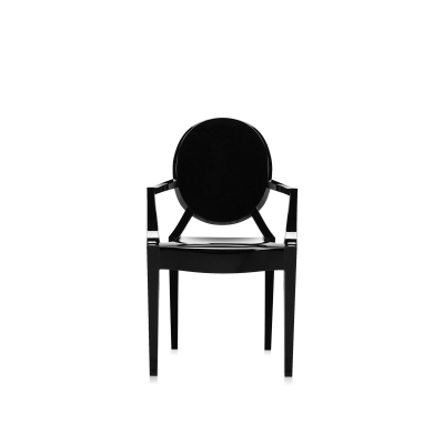 Lou Lou Ghost Chair Barnstol - Glossy Black