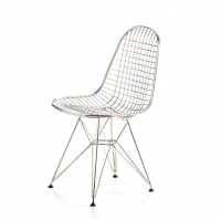 Wire chair DKR, Chromed