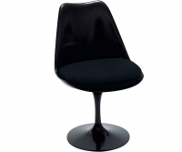 Tulip swivel chair, svart skal