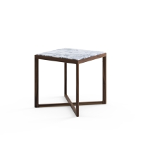 Marc Krusin Side Table, marmorskiva