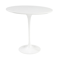 Saarinen Round table 51 cm, vit laminat