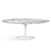 Saarinen Oval dining table, arabescato