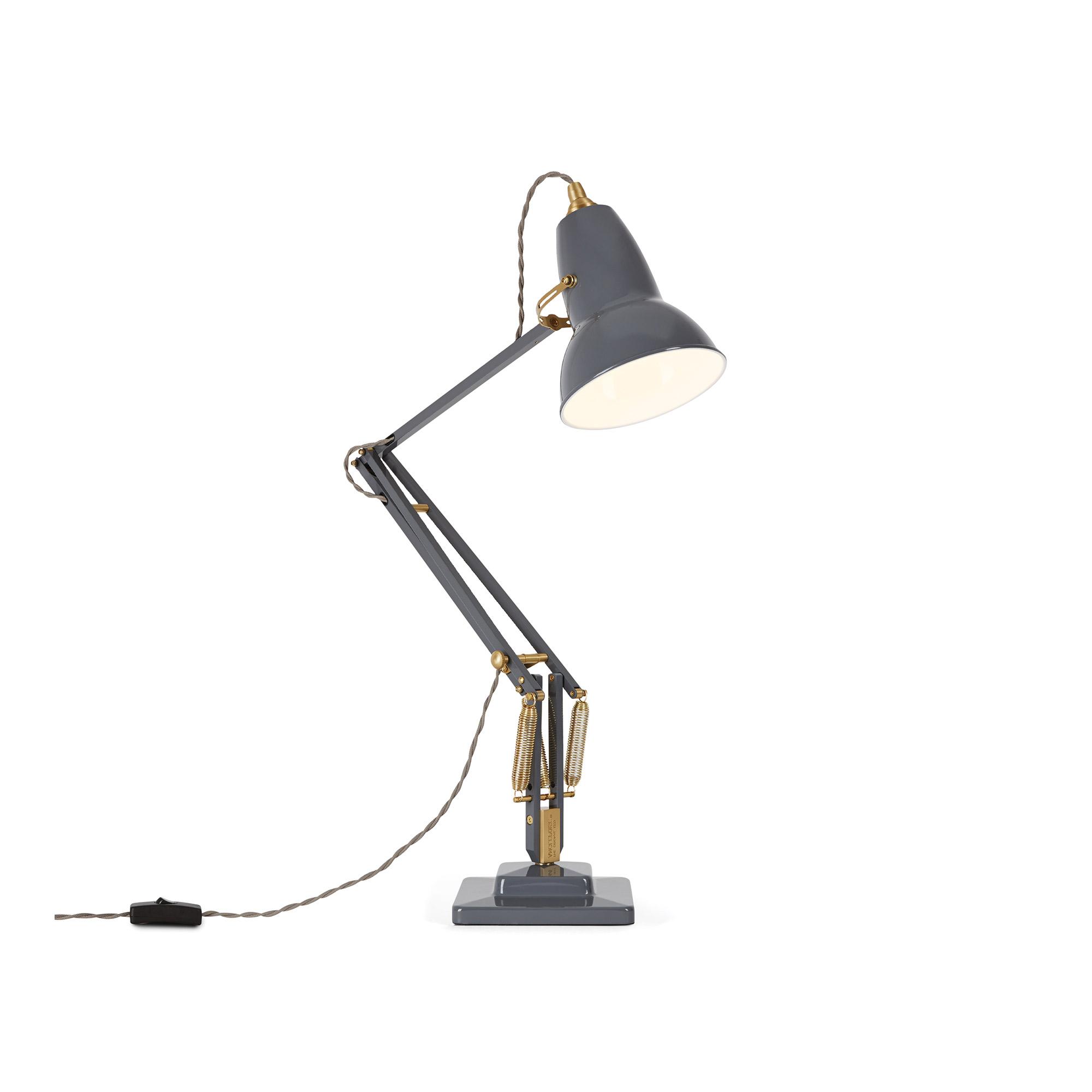 Original 1227 Brass Skrivbordslampa, Deep Slate