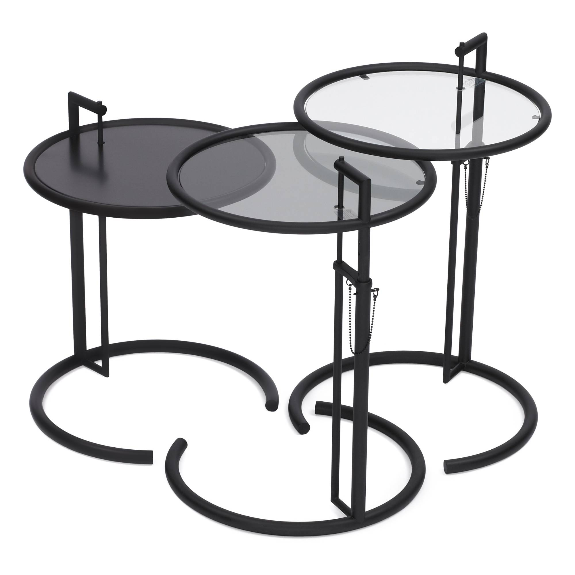 k p adjustable table e 1027 fr n classicon nordiska galleriet. Black Bedroom Furniture Sets. Home Design Ideas
