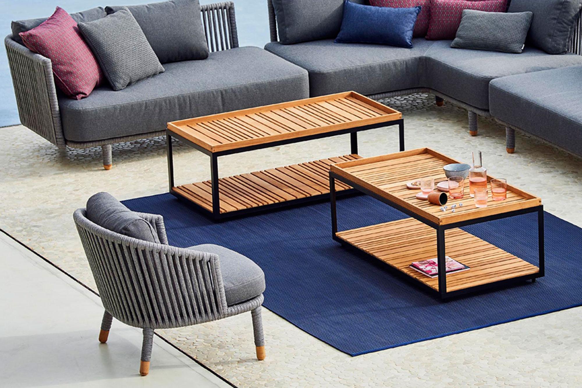 Köp Level Soffbord Rektangulärt från Cane line Nordiska Galle